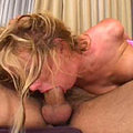 Blonde gets pushed into the couch by cock