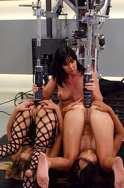 All anal machine fucking between kat, keeani lei and julie night.