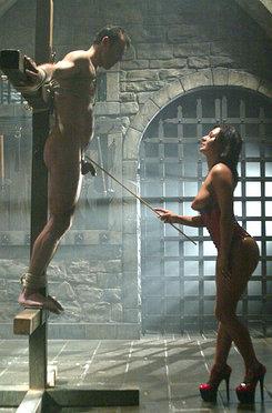 Mistress sandra romain dominates impudent slave