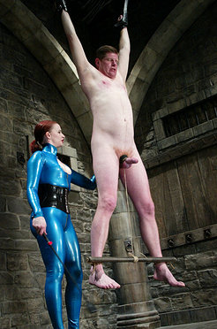 Claire adams takes her slave to new painful heights