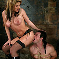 Mistress tyla is like a mantis as she slinks all over her slave