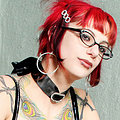 Gorgeous bella vendetta strips down to her librarian glasses black stockings and a sneer