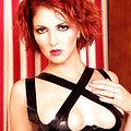 Pierced redhead straight fetish skirt and halter
