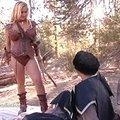 blonde slut giving a medieval blowjob