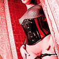 goth slut in see through panties fishnet corset