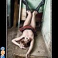 Goth fetish raver girl in creative photos