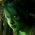 Erotic swamp monster beauty in special effects makeup