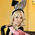 Goth babe RazorCandi plays kinky Easter Bunny babe