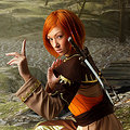 Leliana (Dragon Age: Origins) nude cosplay