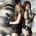 Sheva, Alice (Resident Evil) nude cosplay