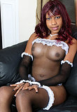 Irresistible Jade Playing Hot French Maid