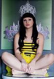 Irresistible TS goddess Bailey Jay smoking and posing