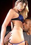 TS Angelina takes a big black dick