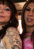 Beautiful sweetheart Victoria giving a head with Danielle