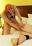 TS Mandy Mitchell gets punished by a superhero