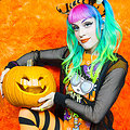 Dorothy Rainbow Perki Goth Messy Naked Halloween Pumpkin Carving