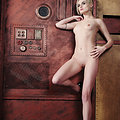 Annika Amour Leggy pale porn star in Steampunk future roleplay