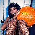 Cooper Gothic Dark Magik Babe Cooper Carving Pumpkins