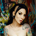 RazorCandi Goth Babe strips naked in punk bathroom