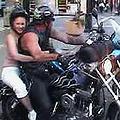 Buxom teen slut getting banged by horny biker guy