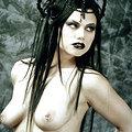 Scary black lipped demon slut invites you to hell