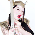 Gothic valerye Vamp Dahlia in sexy armor