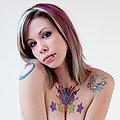 Beautiful tattooed and pierced alternative girl in hot panties Krysta Kaos