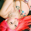 Tattoo Pin-up babe Annalee Bell in vintage Lingerie