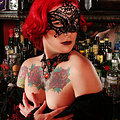 Zelda Redheaded Goth babe ready for Vampire Ball