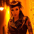RazorCandi Punk rock Goth babe flashing in the city